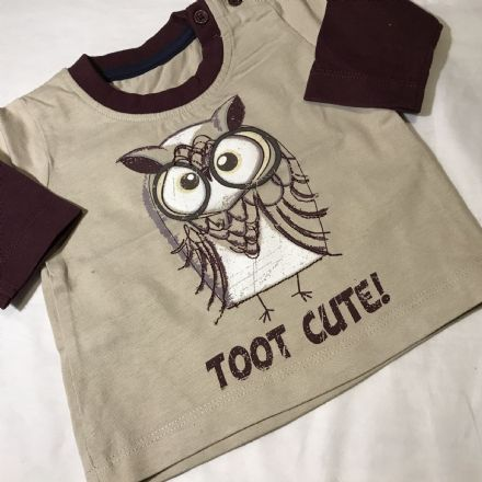 0-0 Newborn Owl Print  Top